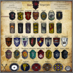 ~_S.E._~ GoT Heraldry Shields - Gacha KEY